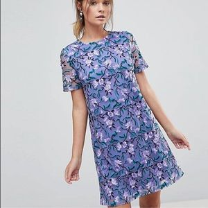 Dolly & Delicious Allover Embroidered Shift Dress